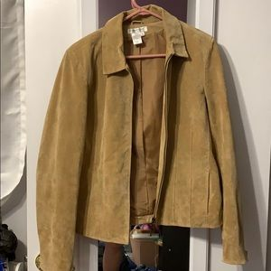 Coldwater Creek Suede Leather Jacket